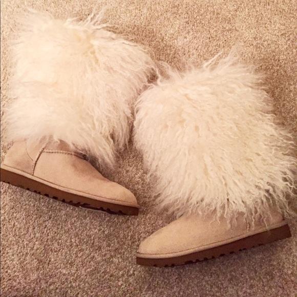 f1b7366bcf6 UGG Lida Mongolian Sheep Fur Tall Boots
